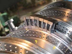 Détail d'une turbine à vapeur, services de réparation et maintenance par SPIE Turbomachinery